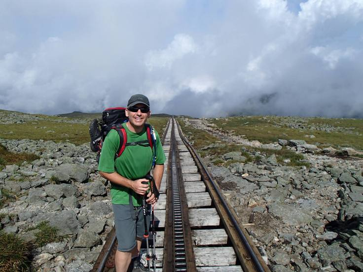 photo of joe on the cog railway